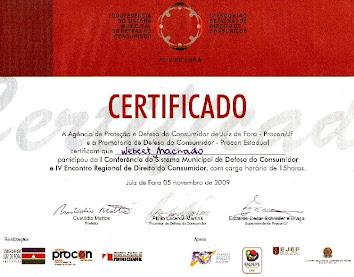 1ª Conferência Sistema Municipal de Defesa do Consumidor