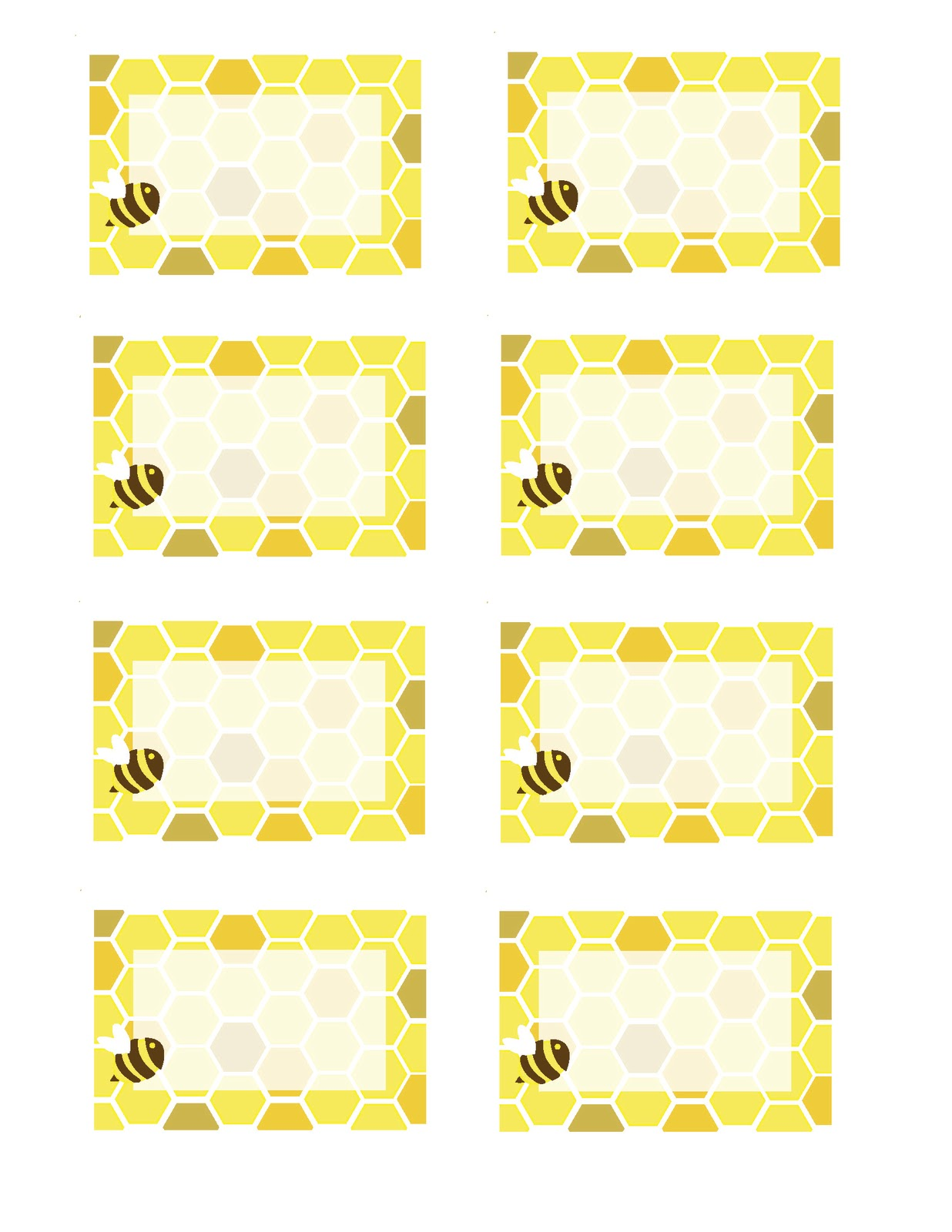 It's just a graphic of Ambitious Honey Bee Printables