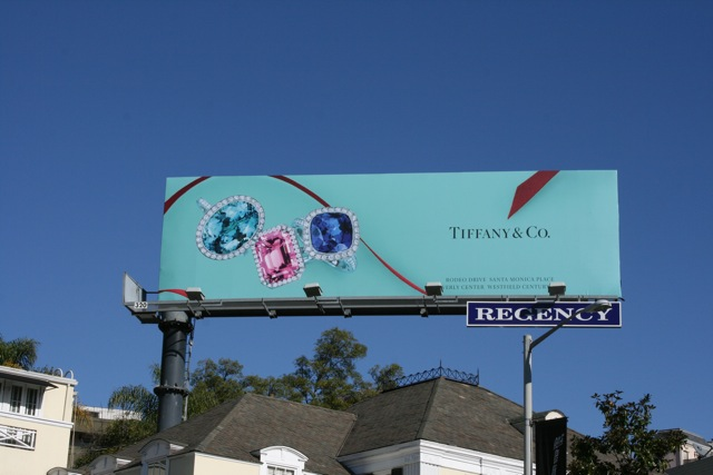 Tiffany Co rings billboard