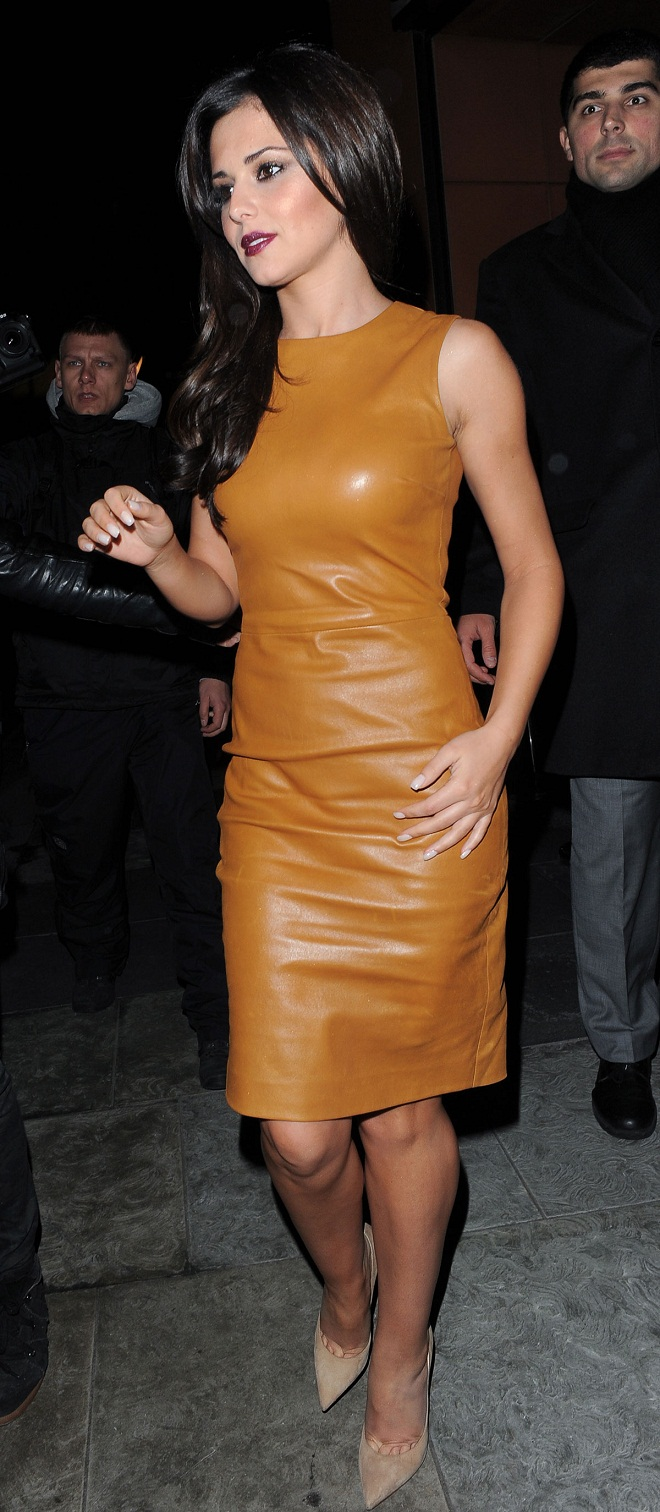 Cheryl Cole Stuns In A Mustard Yellow Mini Dress By The Row