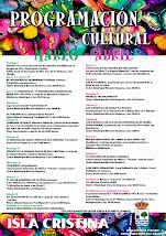 PROGRAMACIÓN CULTURAL MARZO-ABRIL 2015 ISLA CRISTINA