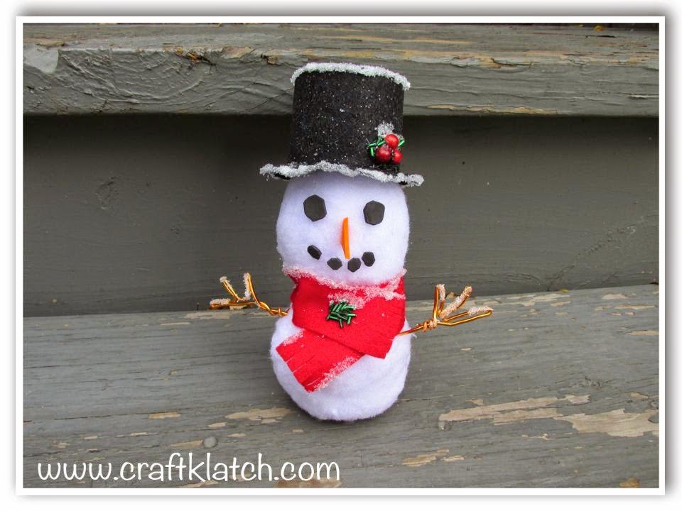 Craft Klatch Easy Snowman Craft Diy
