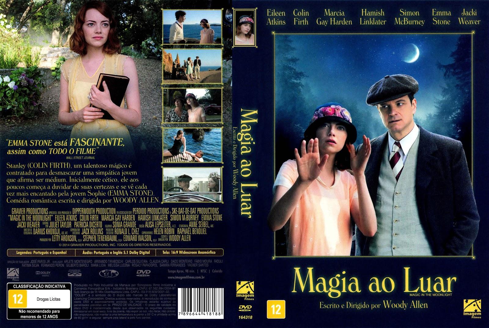 Capa DVD Magia Ao Luar