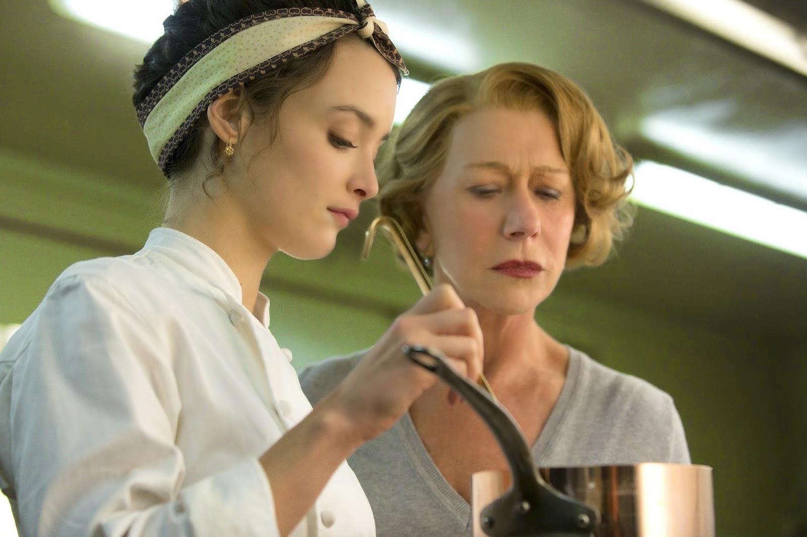 Charlotte Le Bon (Margueritte) y Helen Mirren (Madame Mallory)