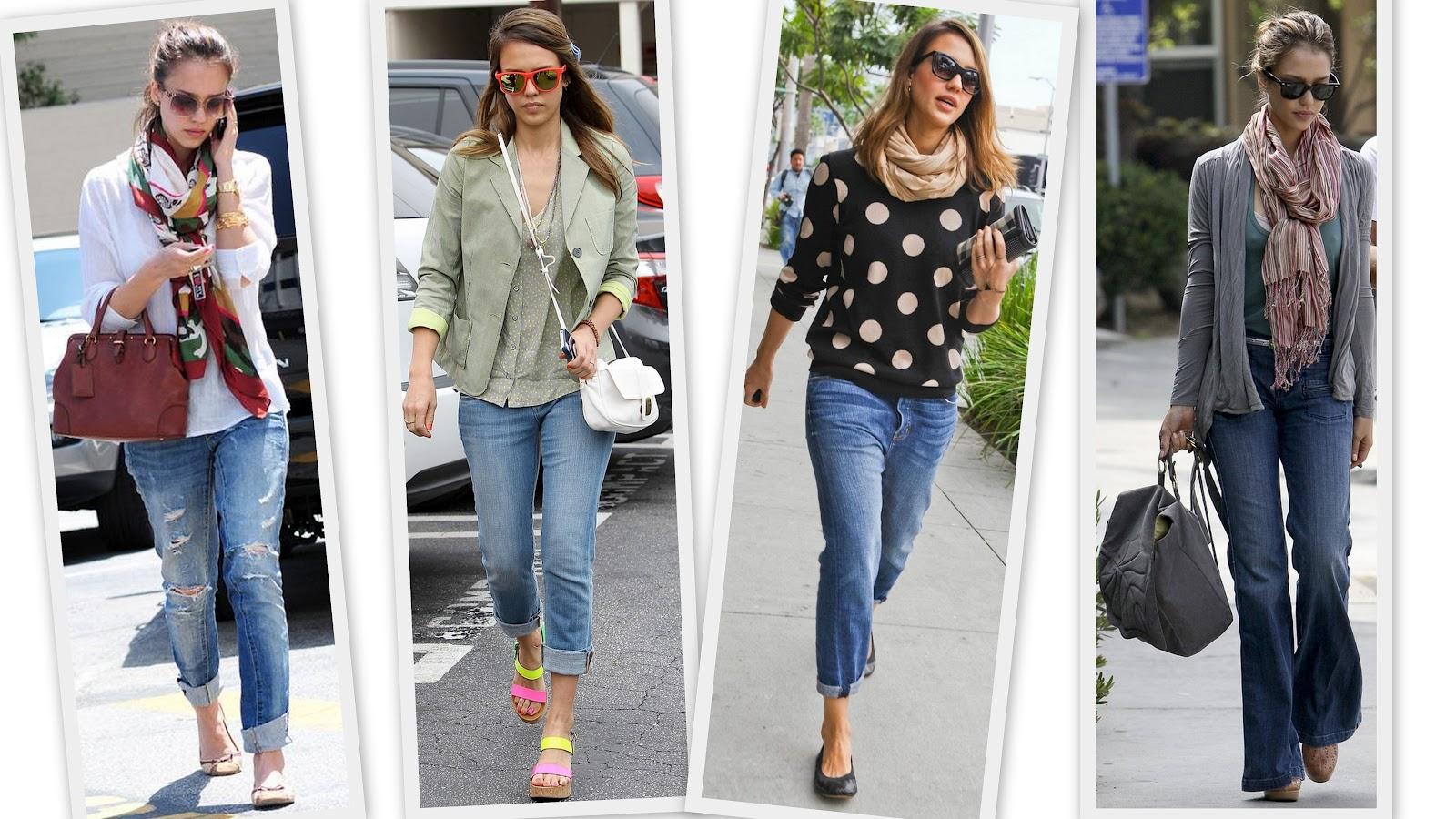 Mujeres con estilo unico jessica alba mejor estilo jeans Jessica alba fashion and style