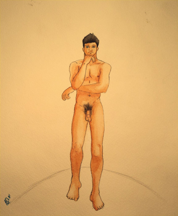 Male Nude Figure Study. This is a figure study I did a couple of days ago ...