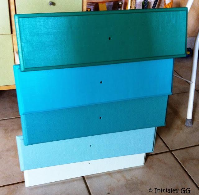 Diy nouveau relooking pour mon chiffonnier initiales gg - Peindre meuble bombe ...