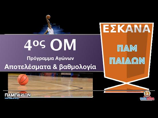 ΠΑΜΠΑΙΔΩΝ 4ος ΟΜ ✵ Το πρόγραμμα αγώνων