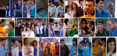 Fotogramas de escenas de Hospital Central - Rai, Lola, Jose, Valeria