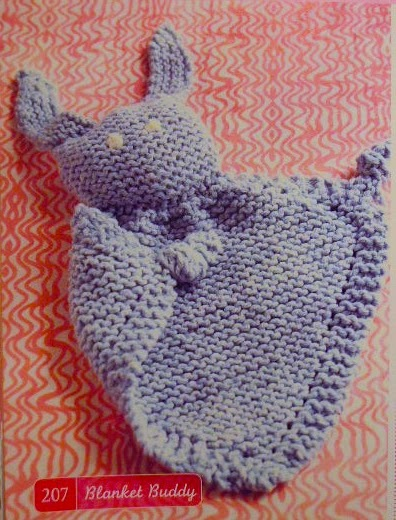 Knitting Patterns Baby Cotton Yarn : An Elephant a Day 2.0: Elephant No. 79: Mini Baby Blankie