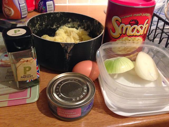 ingredients to make slimming world fish cakes