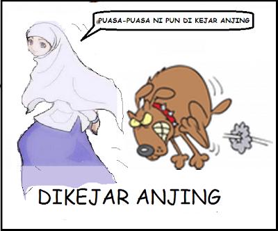 DIKEJAR ANJING