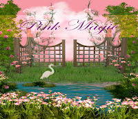 Pink Magic digital fantasy backgrounds