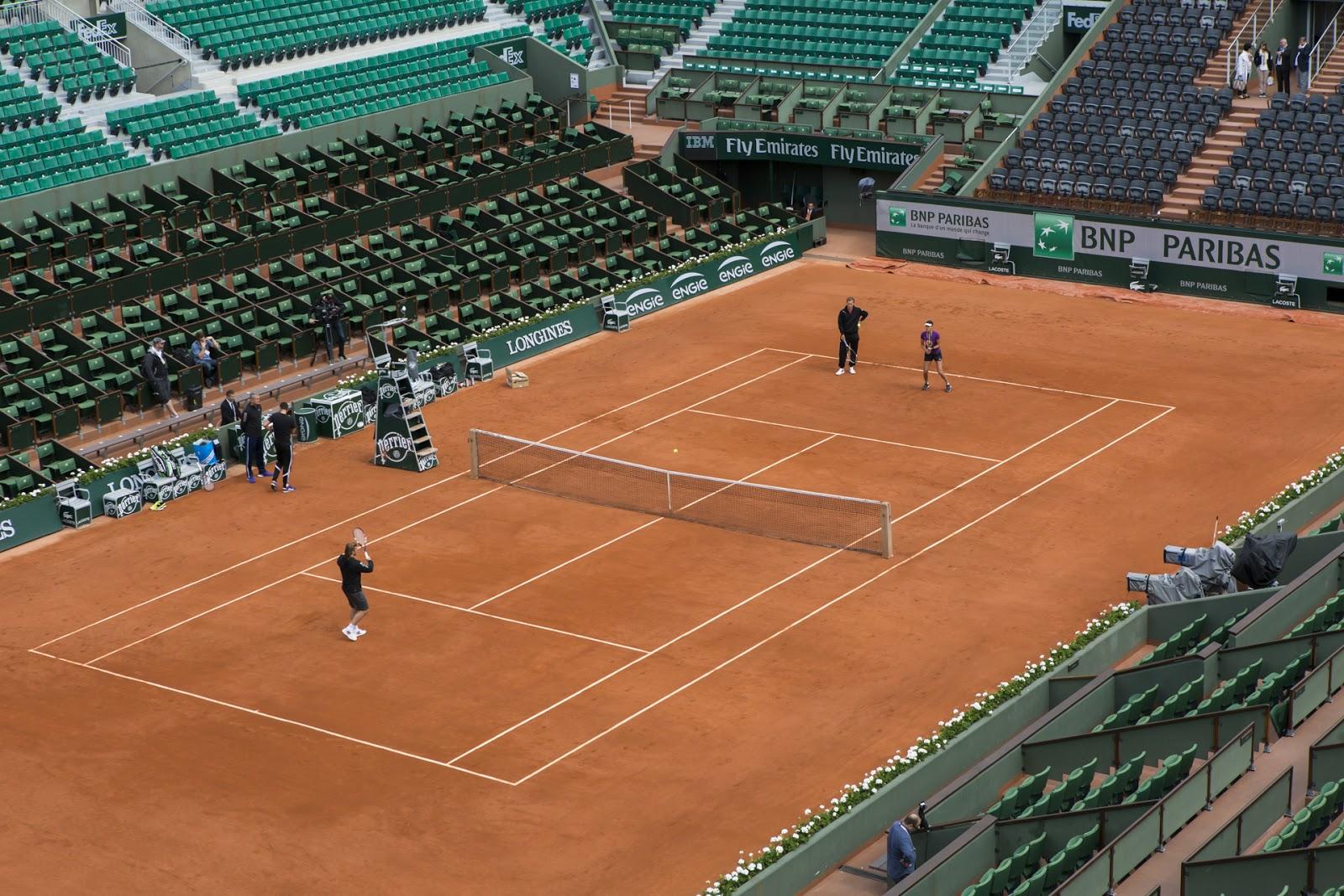 Roland Garros 2015 court tennis