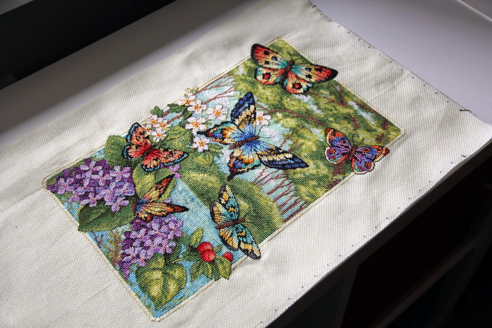 Лес бабочек схема вышивки 79