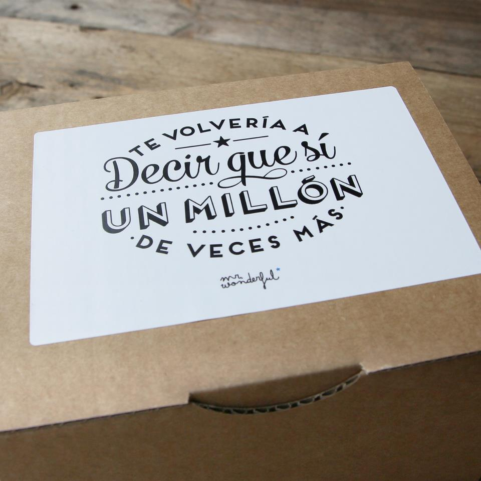 Mr wonderful ideas para ser feliz sweet bodas - Ideas para mi aniversario ...