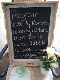 Menetrend esküvőre