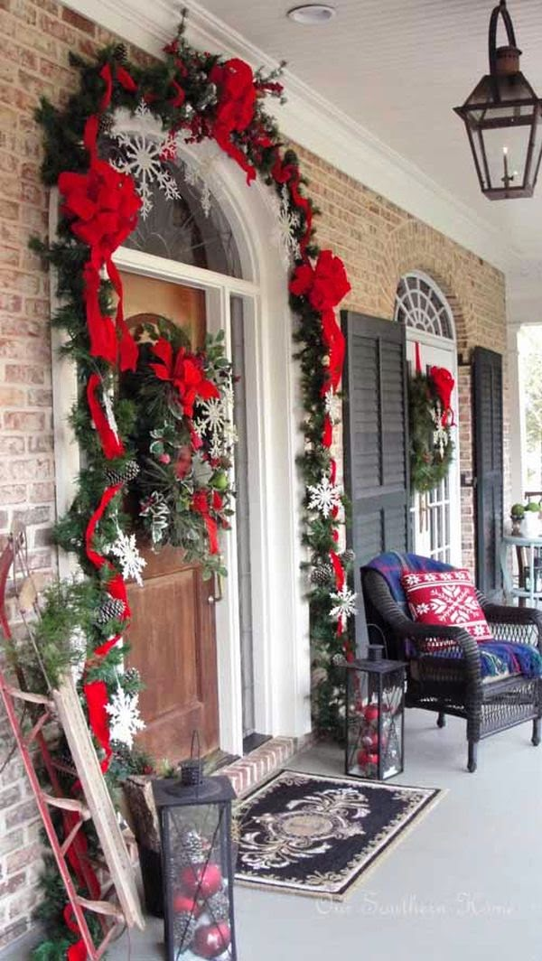 Porches And Patios Dressed For Christmas Ideas And