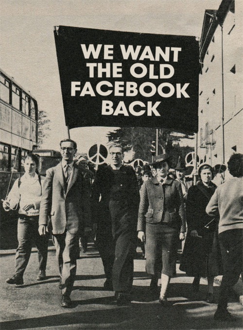 Modern Protestors Want The Old Facebook Back