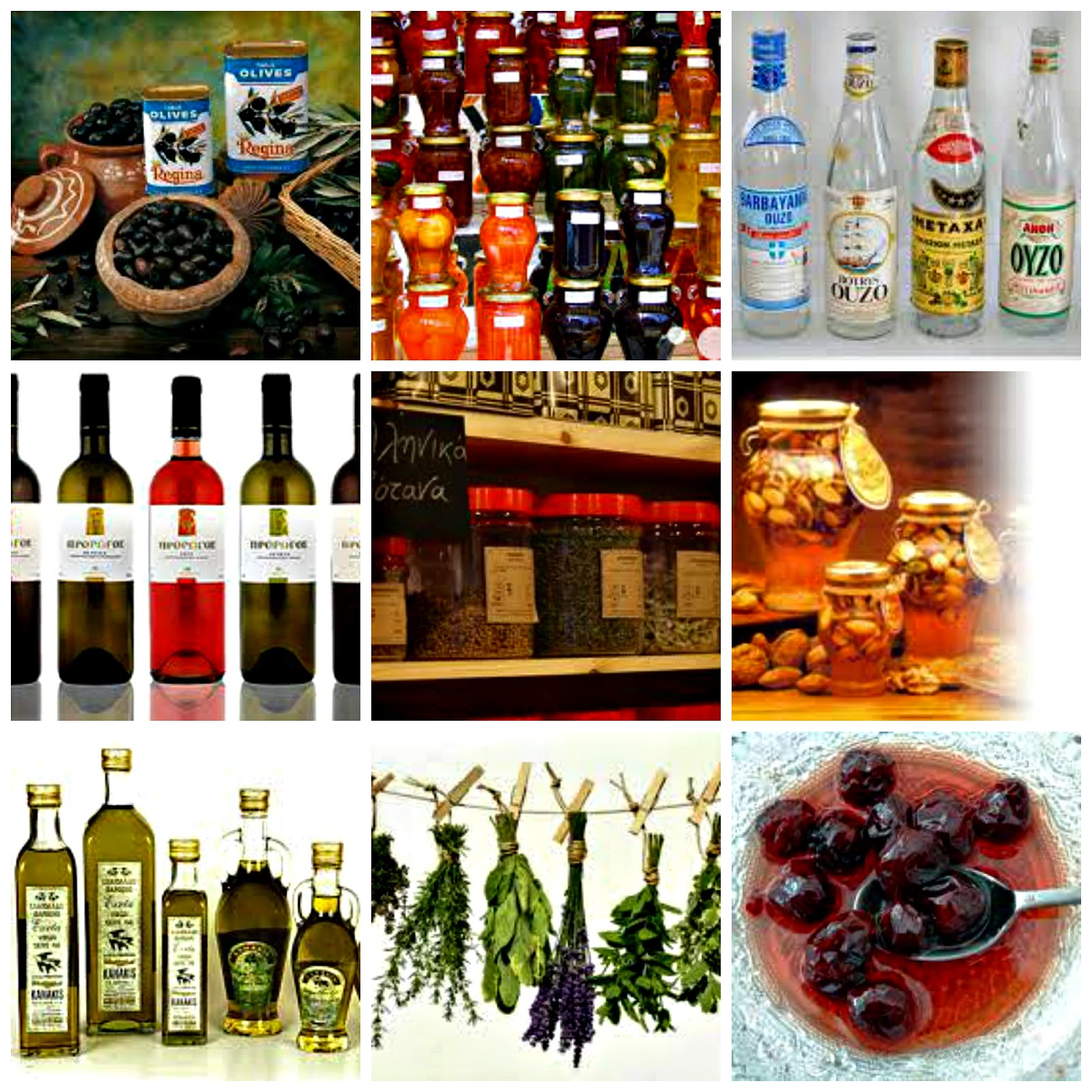 Gifts to take home from Greece. Pictures courtesy of Google.