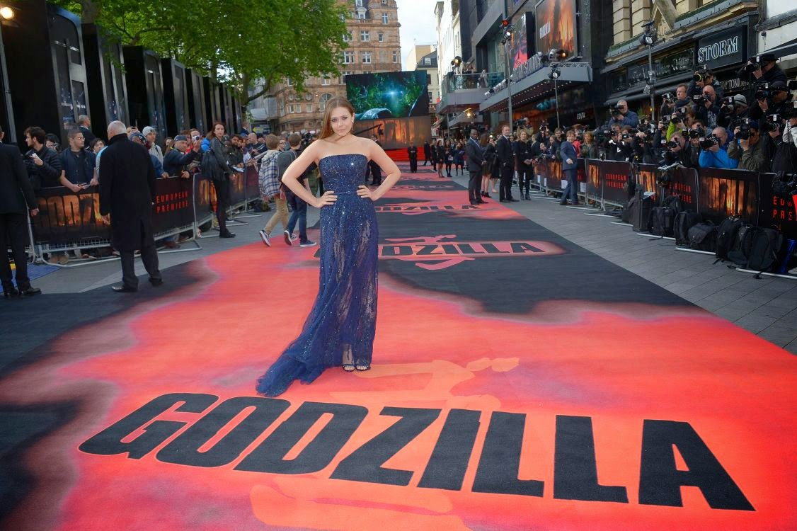 Elizabeth+Olsen+Flaunting+at+Premiere+of+'Godzilla'+in+London+(2) Elizabeth Olsen Flaunting at Premiere of 'Godzilla' in London