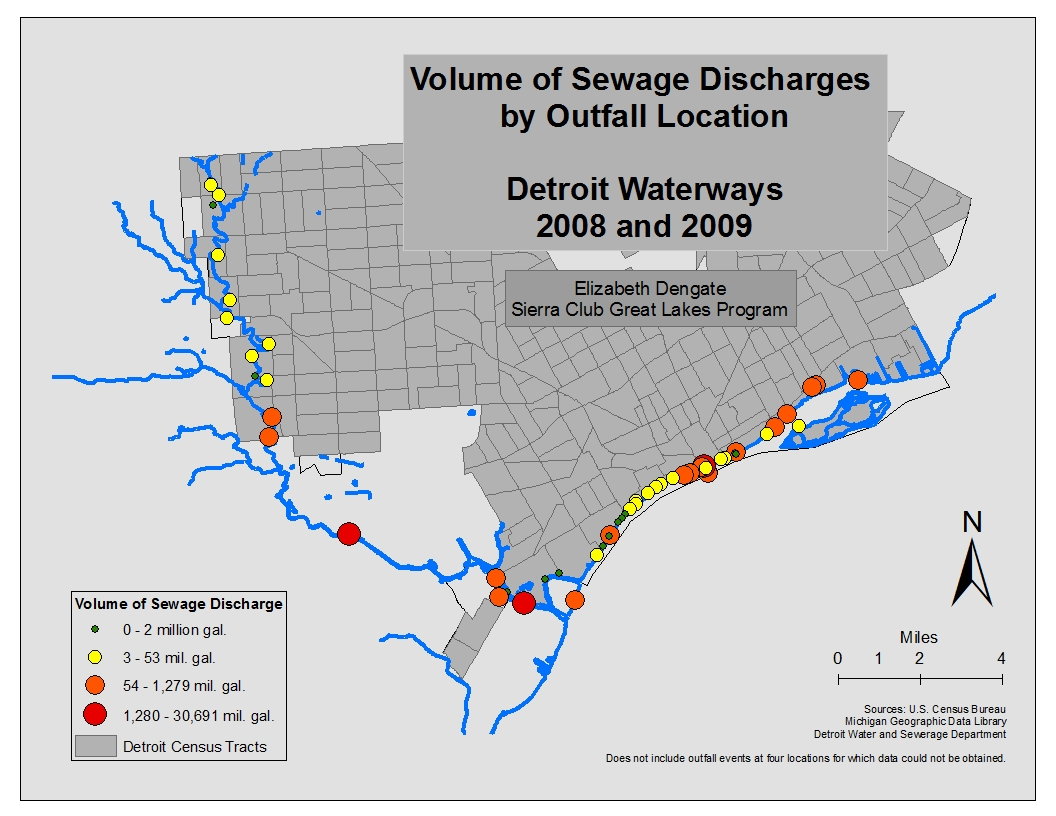 in fact detroit water sewerage department takes wastewater from 76 additional communities in addition to the city of detroit roughly speaking the sewer
