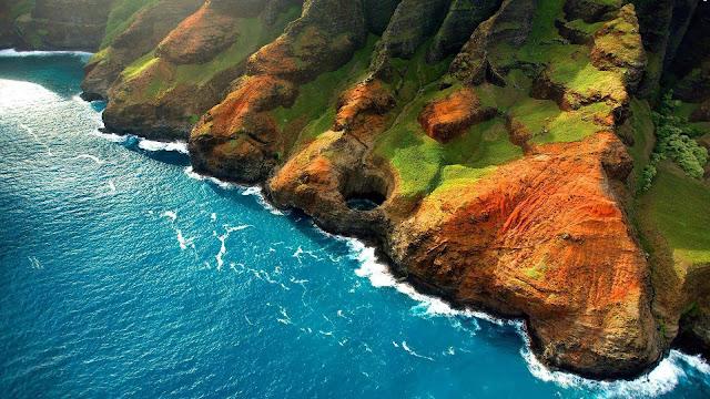 Sea Mountains HD & Widescreen Nature & Landscape Wallpaper