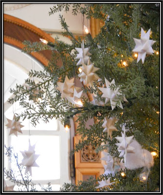 Paper Stars at a Holiday Celebration
