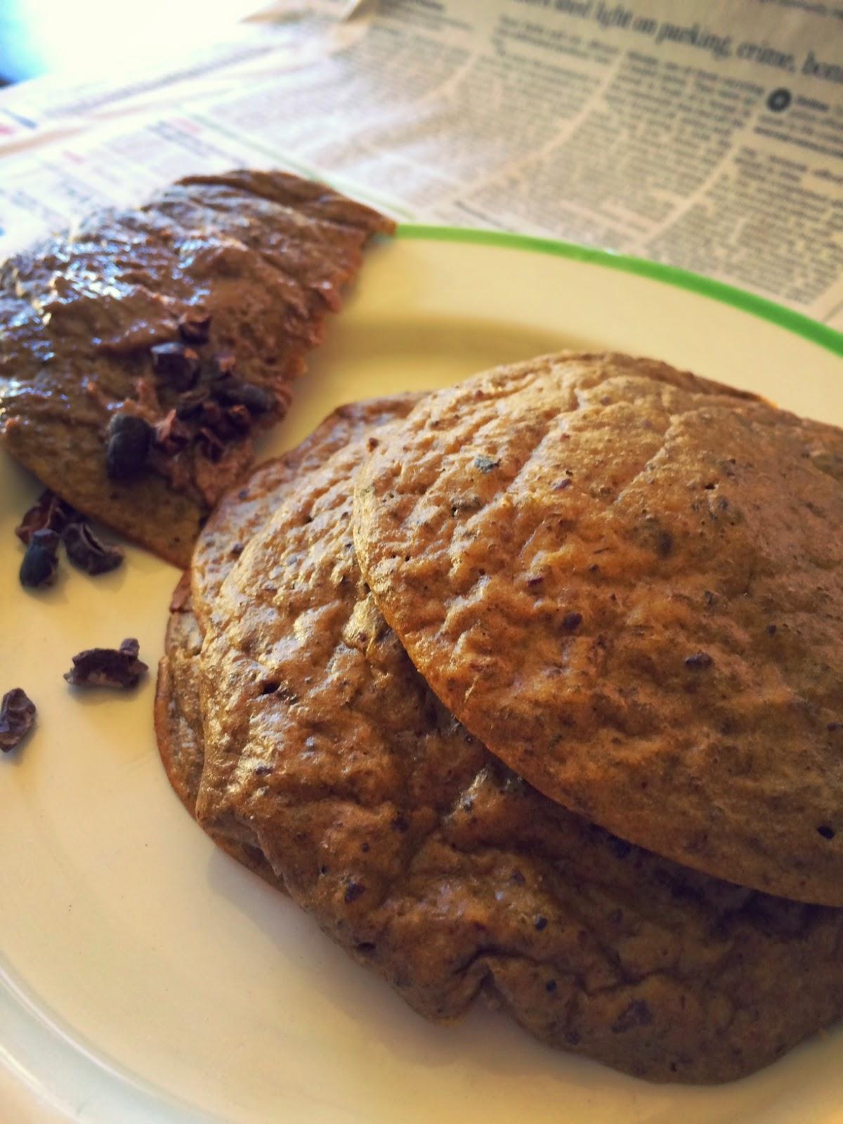 Plain Cacao Chia Pancakes