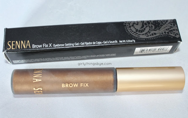 Senna brow fix x, golden brown, eyebrow setting gel, girly things by *e*