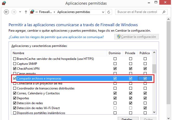 Permitir conexiones SMB con el firewall de Windows activado