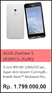 harga terbaru zenfone 5 A500CG