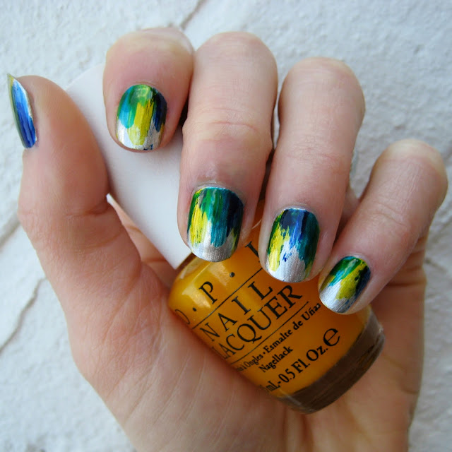 o.p.i colorpaints nail art