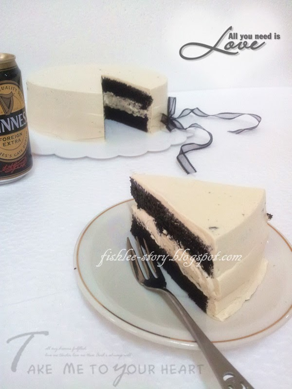 ... Dark Chocolate Guinness Cake with Bailey's Buttercream