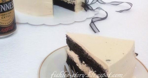 ... Dark Chocolate Guinness Cake with Bailey's Buttercream