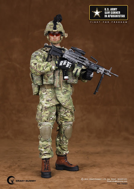 Preview Crazy Dummy 1 6th Scale U S Army Saw Gunner In