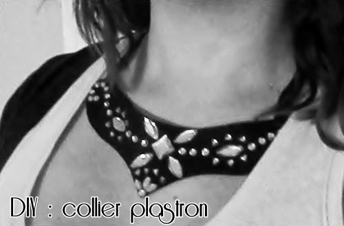 DIY : collier plastron à strass sur de la feutrine