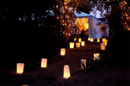 Paper Bag Luminaries Wedding Lanterns Carousel Configuration