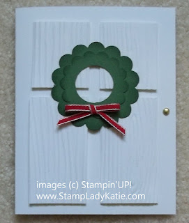 Door Punch Art: Card made to look like a door using Stampin Up Punches and embossing folders