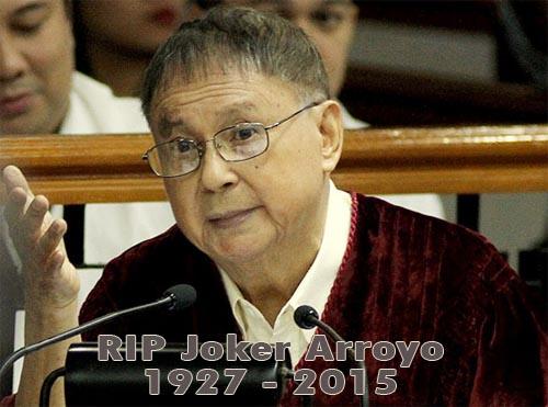 RIP Joker Arroyo