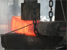 hardening operation in cold working process in forging or smithy manufacturing workshop