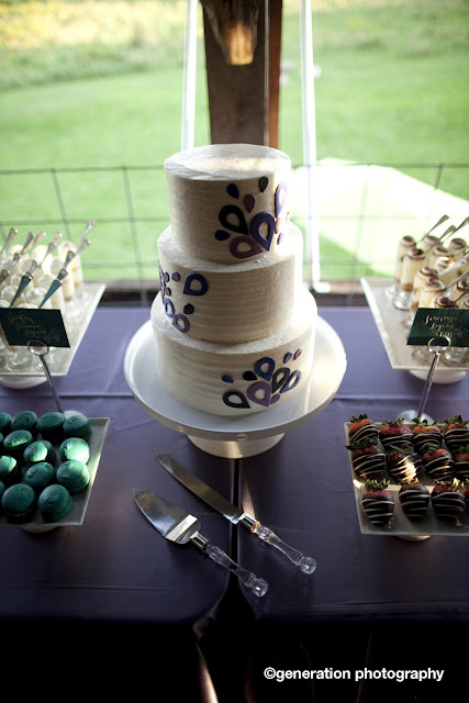 Twin Cities 3 Tier Wedding Cake with Teardrop Accents