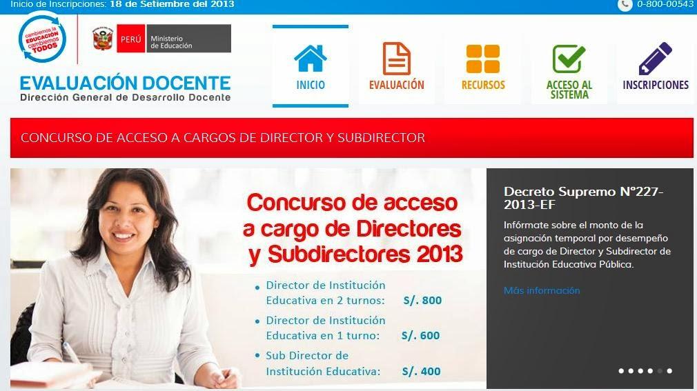 Exámen de Directores y Subdirectores, Concurso Docente (28 de Octubre