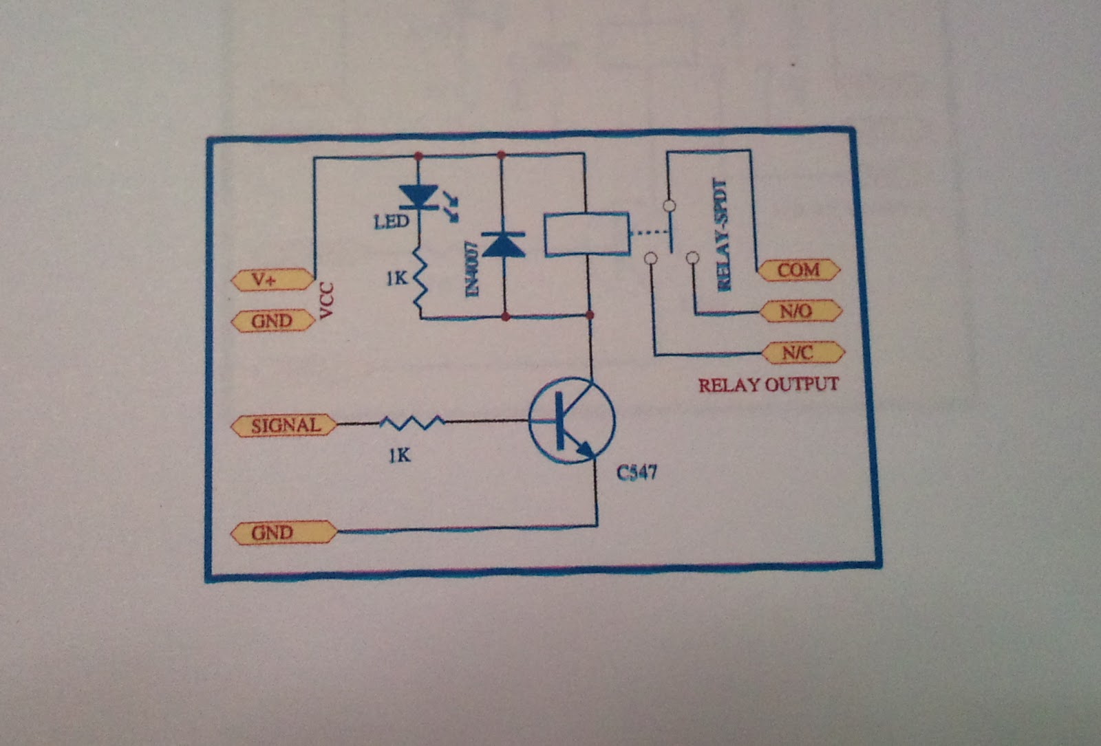 Final Year Project Home Patient Monitor Fyp Week 4 Switching Relay Switch Drawing Figure 2 Schematic Diagram Of The Circuit