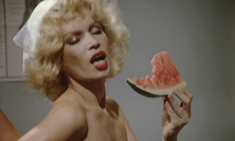 ... (also sex-obsessed of course) who likes to eat watermelon in the nude.