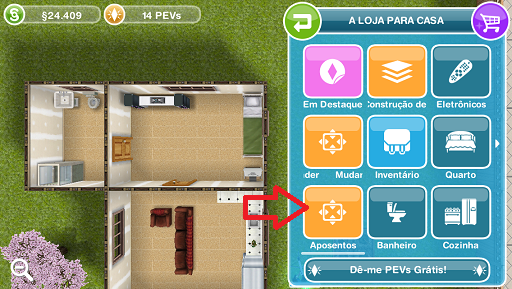 the sims freeplay aposentos