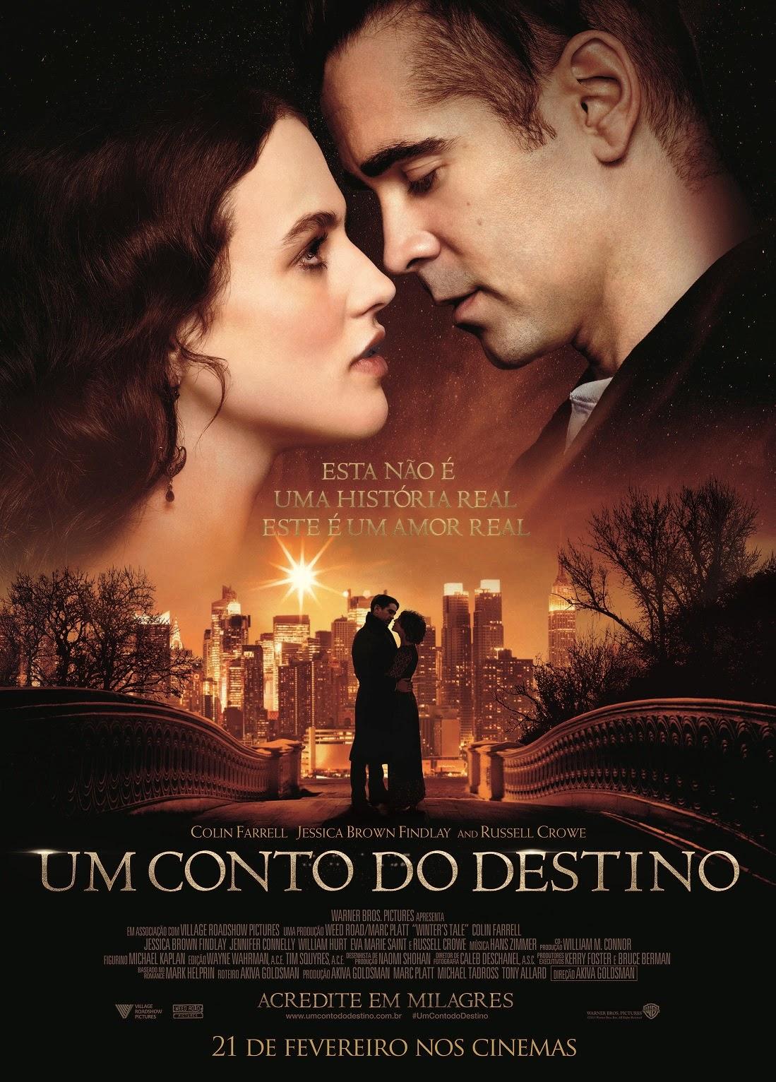 Pôster/capa/cartaz nacional de UM CONTO DO DESTINO (Winter's Tale)