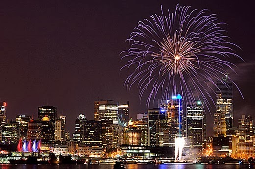 Happy New Year 2014 Countdown Vancouver, Canada