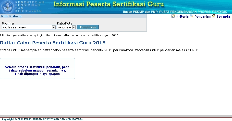 Pengumuman hasil uk/uka sertifikasi guru 2013 telah diterbitkan