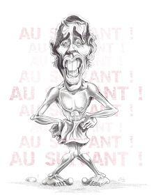 Caricature Jacques Brel - Guillaume Néel ©